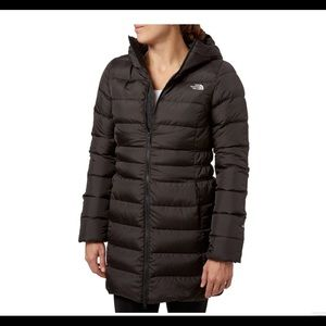 The North Face Long Down Hooded Jacket 600 sz S